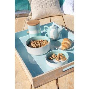 Tea Set ceainic cu ceasca, Portelan, Verde