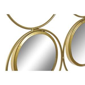 Tina Decoratiune perete oglinda, Metal, Auriu