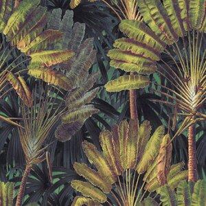 Traveller's Palm Sunset Set 3 role tapet, Netesut, Verde