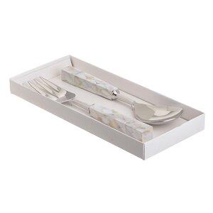 Vinny Set 2 Ustensile salata, Metal, Argintiu