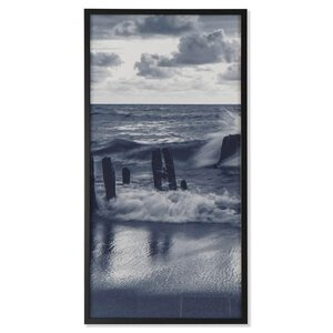 Waves Tablou, MDF, Albastru