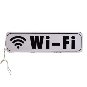 Wifi Decoratiune perete, Metal, Alb