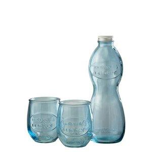 Wupy Set sticla si 2 pahare, Sticla, Albastru