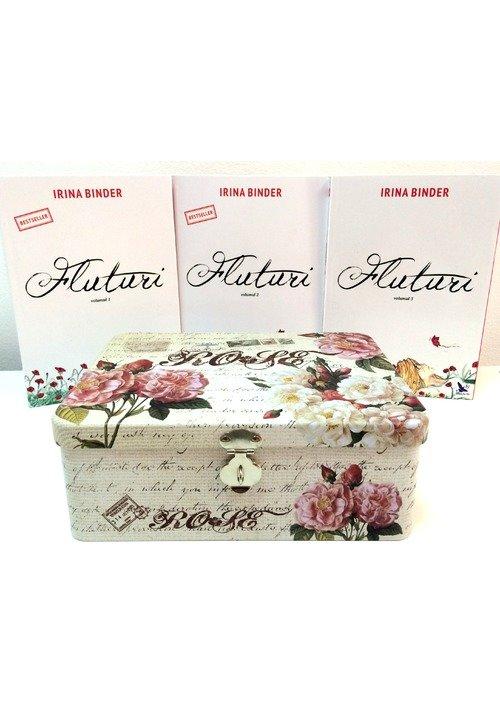 Pachet: FLUTURI 3 Volume + Cutie Metalica + Semn de carte