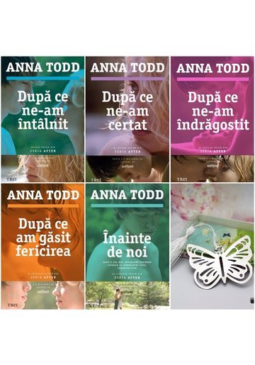 Pachet seria AFTER de Anna Todd - 5 Volume + Semn de carte