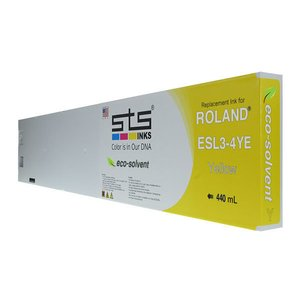 Cerneală STS eco solvent, cartuș 440mL, compatibil Roland Eco-Sol MAX Yellow