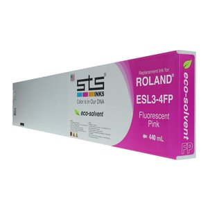 Cerneală STS eco solvent, cartuș 440mL, compatibil Roland Eco-Sol MAX Fluorescent Pink