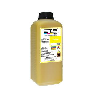 Cerneală STS low solvent, bidon 1L, compatibil HP 9000 | HP10000 | Seiko 64 Yellow