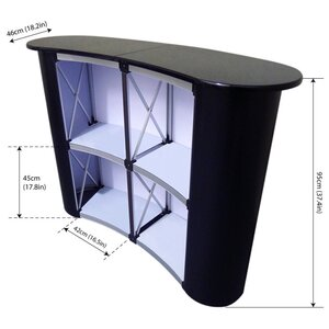 Pop-Up Counter curb, magnetic (W/H/L) 129 x 95 x 46 cm