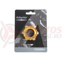 Adaptor frana Ashima AC03XL center lock ultra light auriu