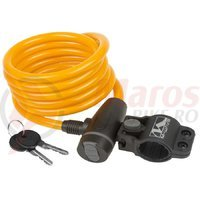 Antifurt M-Wave 10x1800mm portocaliu/cheie