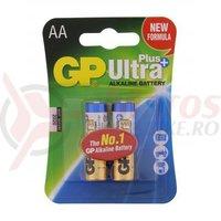 Baterie alcalina R6 AA 2 bucati/blister Ultraplus GP