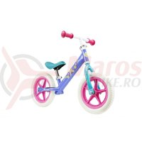 Bicicleta fara pedale metal Frozen multicolora