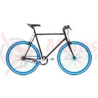 Bicicleta SXT SSP/Fixie negru/albastru