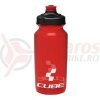 Bidon Cube Icon rosu semi-transparent 500 ml