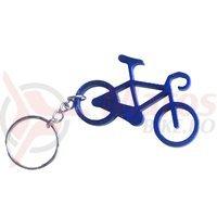 Breloc chei bicicleta albastru
