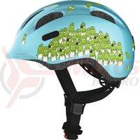 Casca bicicleta Abus Smiley 2.0 blue croco