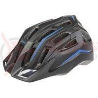 Casca ciclism Mighty Hawk negru albastru 52-58 cm