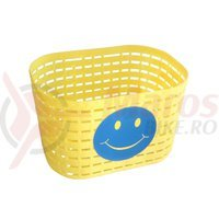 Cos bicicleta plastic galben