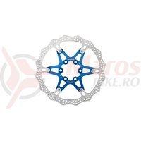 Disc frana Reverse Discrotor 160mm aluminiu/otel albastru inchis