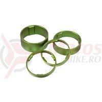 Set distantiere furca Cube 1.1/8 5/5/10/15mm set verde