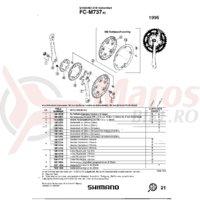 Foaie Shimano FC-M737-IG 22T argintie