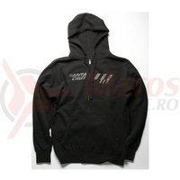 Hanorac Santa Cruz New Strip Zip Hoodie Black