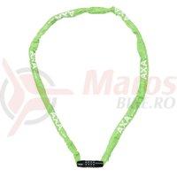Incuietoare cu lant AXA Rigid RCC 120cm/3,5mm verde - cu cifru