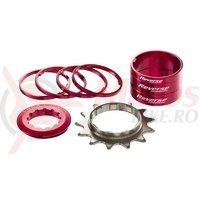 Kit single speed Reverse 13T rosu