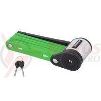 Lacat pliabil Force Fold 80 cm 6 elemente verde fara suport