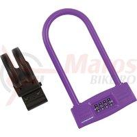 Lacat U-Lock cu cifru Kross KZU 150 123 mm x 228 mm purple