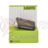 Lampa fata BikeForce Krypton black 3 functii USB