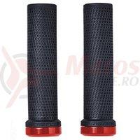 Mansoane Cube Grips Race SL negru/rosu