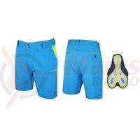 Pantaloni Force Blade MTB cu sub-pantaloni cu bazon albastru
