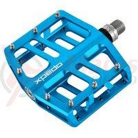 Pedale Xpedo Jek 6061 CNC platforma albastru anodizat