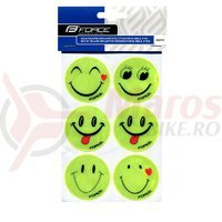 Set autocolante reflectorizante Force Smile 6 bucati