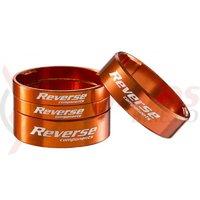 Set distantiere Reverse 1.1/8 aluminiu orange