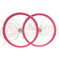 Set roti single speed/fixie 700x32H-40 mm SXT roz