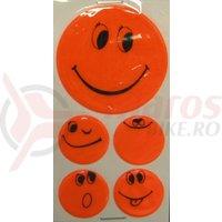 Set stickere autocolante Smiley orange 1x5 cm, 4x2.5 cm