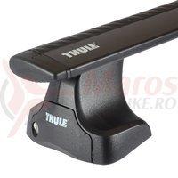 Sistem suporti Thule 754 si bare WingBar Black compatibil Skoda Octavia 2 sedan