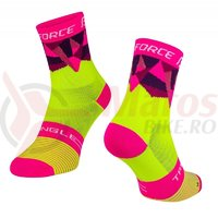 Sosete Force Triangle fluo/roz