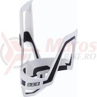 Suport bidon BBB DualCage BBC-39 alb/negru