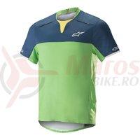 Tricou Alpinestars Drop Pro S/S Jersey poseidon blue/summer green