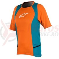 Tricou Alpinestars Stella Drop 2 S/S Jersey bright orange/ocean