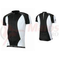 Tricou ciclism Force T12 negru/alb