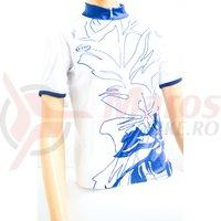 Tricou Elisir Lady maneca scurta alb/albastru navy Northwave