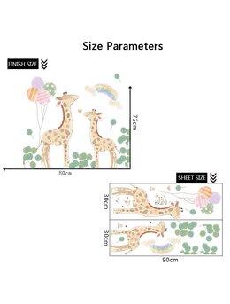 Autocolant de perete doua girafe 72x80cm