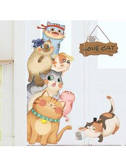 Autocolant de perete LOVE CAT 75x103cm