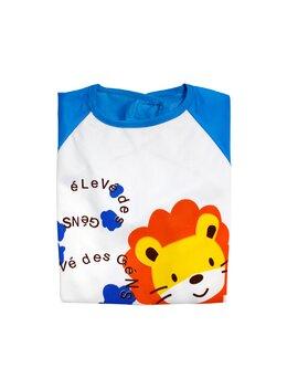 Bavetica tip bluzita impermeabila albastru tigrut