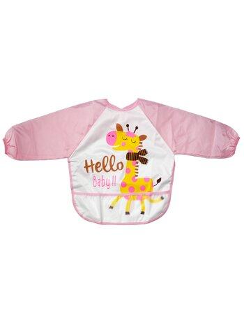 Bavetica tip bluzita impermeabila roz girafa
